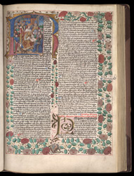 Henry VII Being Presented With The Book, in a Collection of Astronomical Treatises and Tables